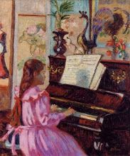 Young Girl at the Piano (1910) Armand Guillaumin (1841-1927)