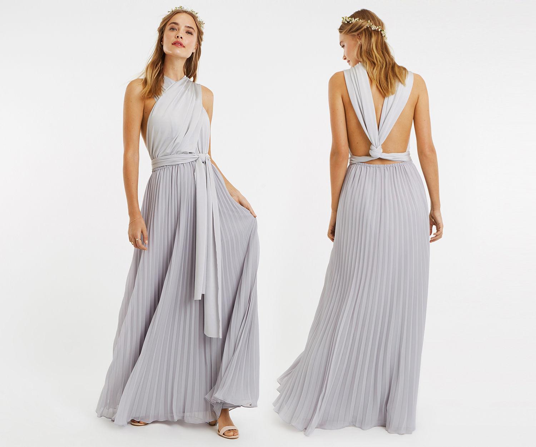 Oasis Wear It Your Way Maxi Dress Pale Grey Multiway Bridesmaid Dress Maxi Dress Multi Way Dress
