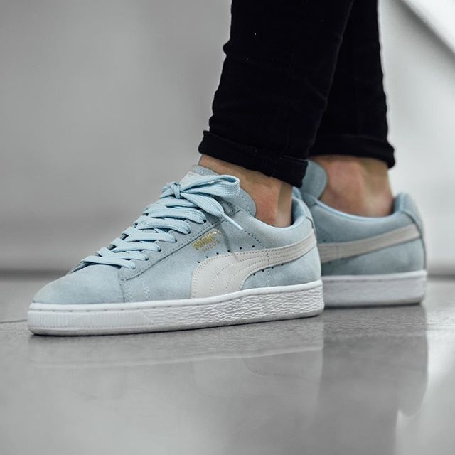 NEW IN! Puma Suede Classic Wn's - Cool Blue/White available in-store