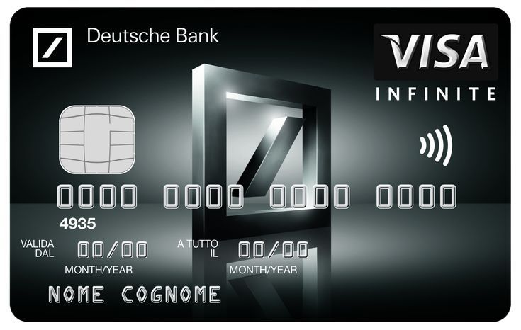 Deutsche Bank Visa Infinité Black Card (с изображениями)
