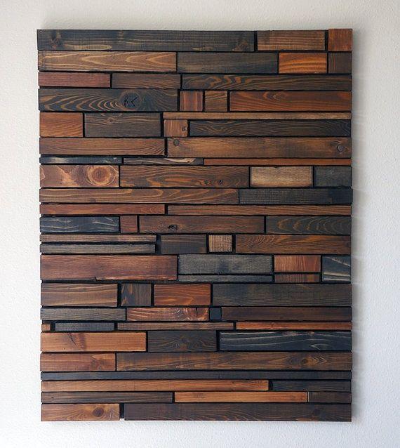 Arte de pared de madera decoracion Pinterest Pared de madera