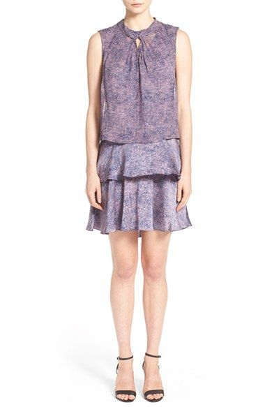 Rebecca Taylor 'Static' Print Twist Neck Dress