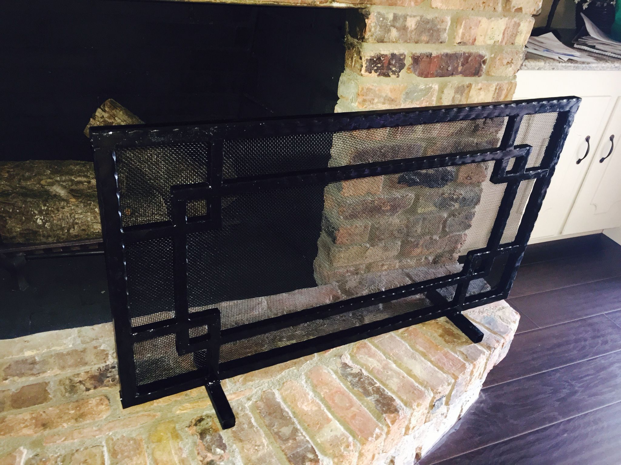 custom built fireplace screen welding project pinterest