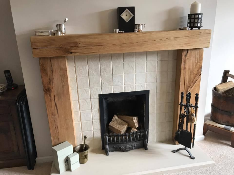 Oak Beam Fire Surround Wooden Fireplace Mantelpiece Upstands Log Burner Mantle Ebay Wooden Fireplace Surround Wooden Fireplace Oak Fireplace