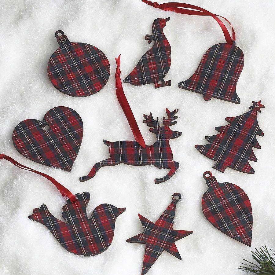 25 30 Www Bing Com: Tartan Christmas Tags