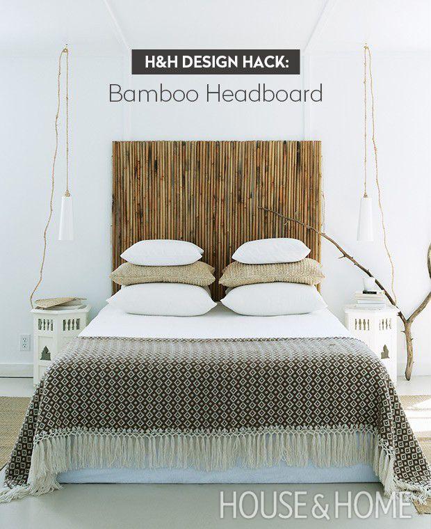Design Hack Bamboo Diy Headboard Kopfteil Bett Bett Ideen Und