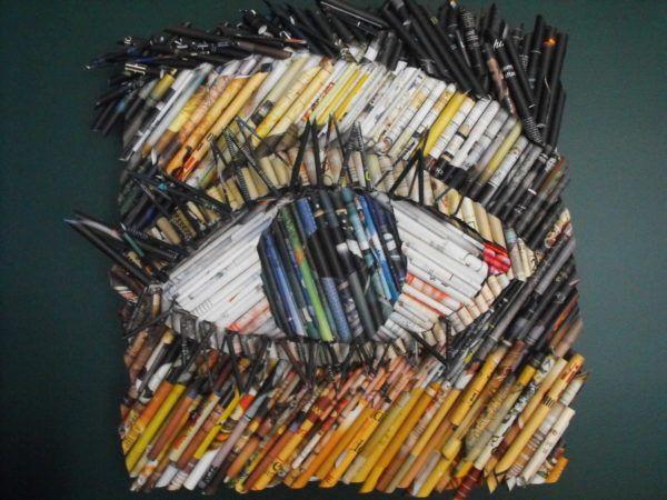 Recycled Magazine Art #recycledart