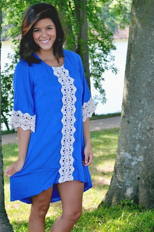 Hi-Lo Lace Front Bell Sleeve Dress