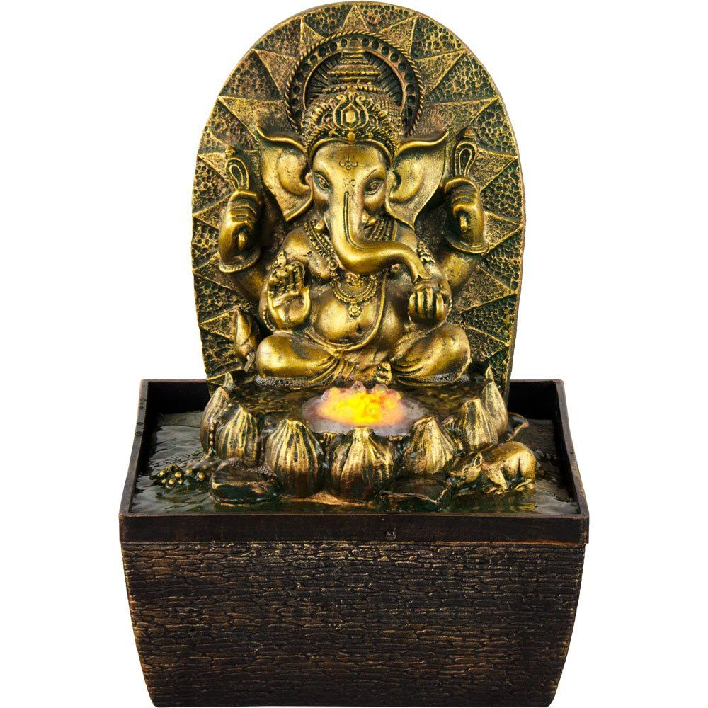 new age source water fountain gold ganesha yellow light fountain new age source water fountain gold ganesha yellow light