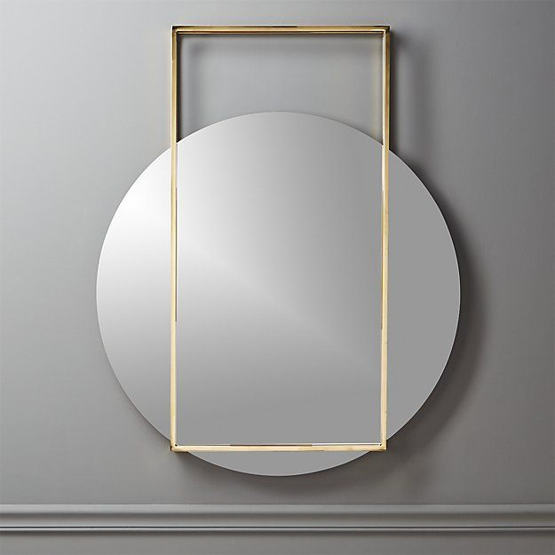 Pendulum Gold Wall Mirror Reviews Cb2 Gold Mirror Wall Modern Mirror Wall Mirror Wall