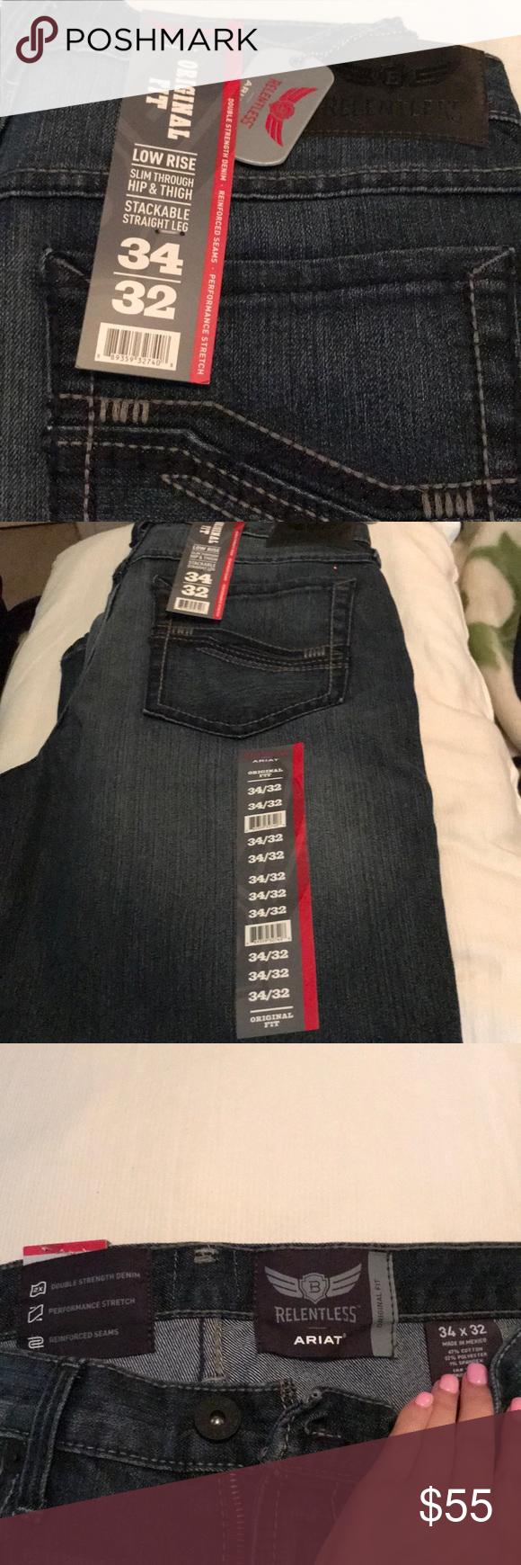 f1a065eef0d Ariat men's relentless jeans NWT sz 34*32 original fit Ariat Jeans ...