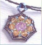 Pattern jewelery: Pendant heptagonal