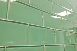 Glass Subway Tile Backsplash Sage Green 3x6 | eBay