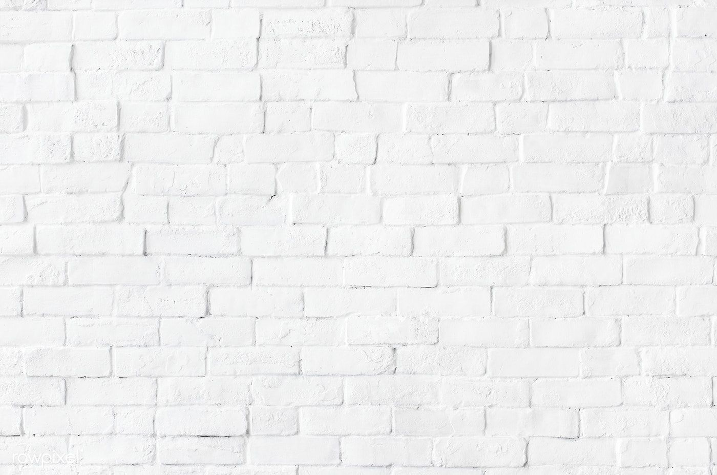 White brick wall textured background free image by