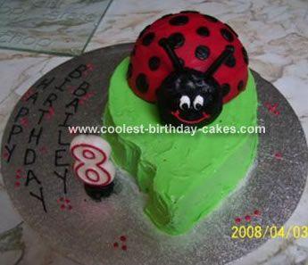lady bug & leaf cake