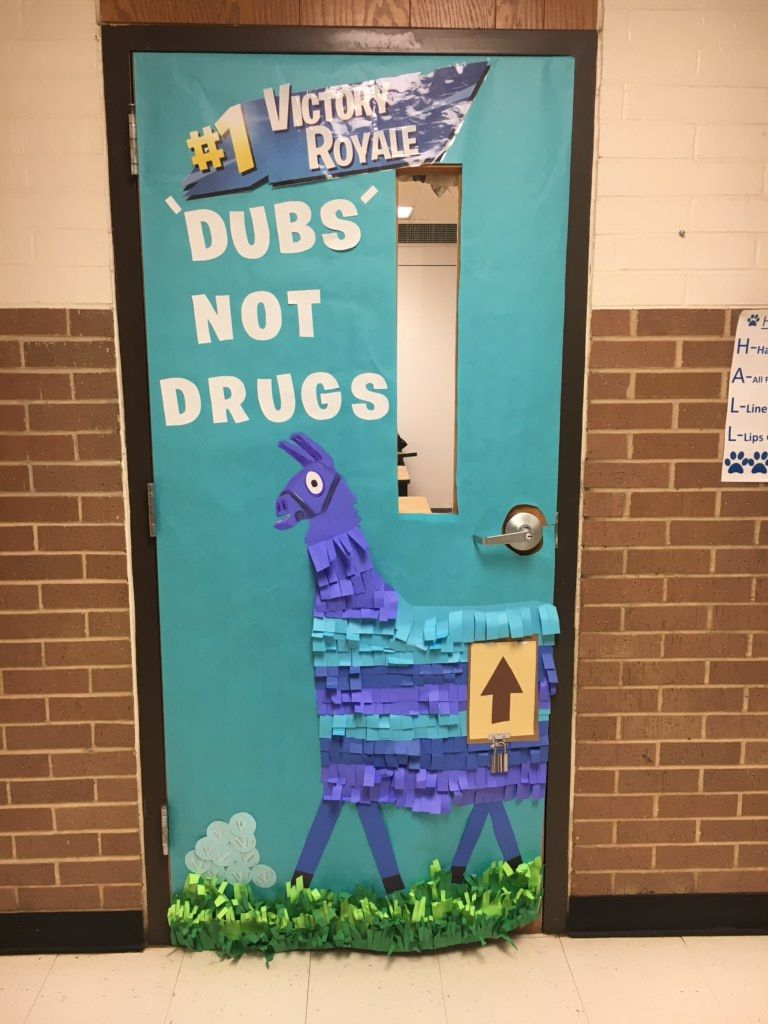 Fortnite Door Decoration For Red Ribbon Week Red Ribbon Week Red Ribbon Classroom Decorations