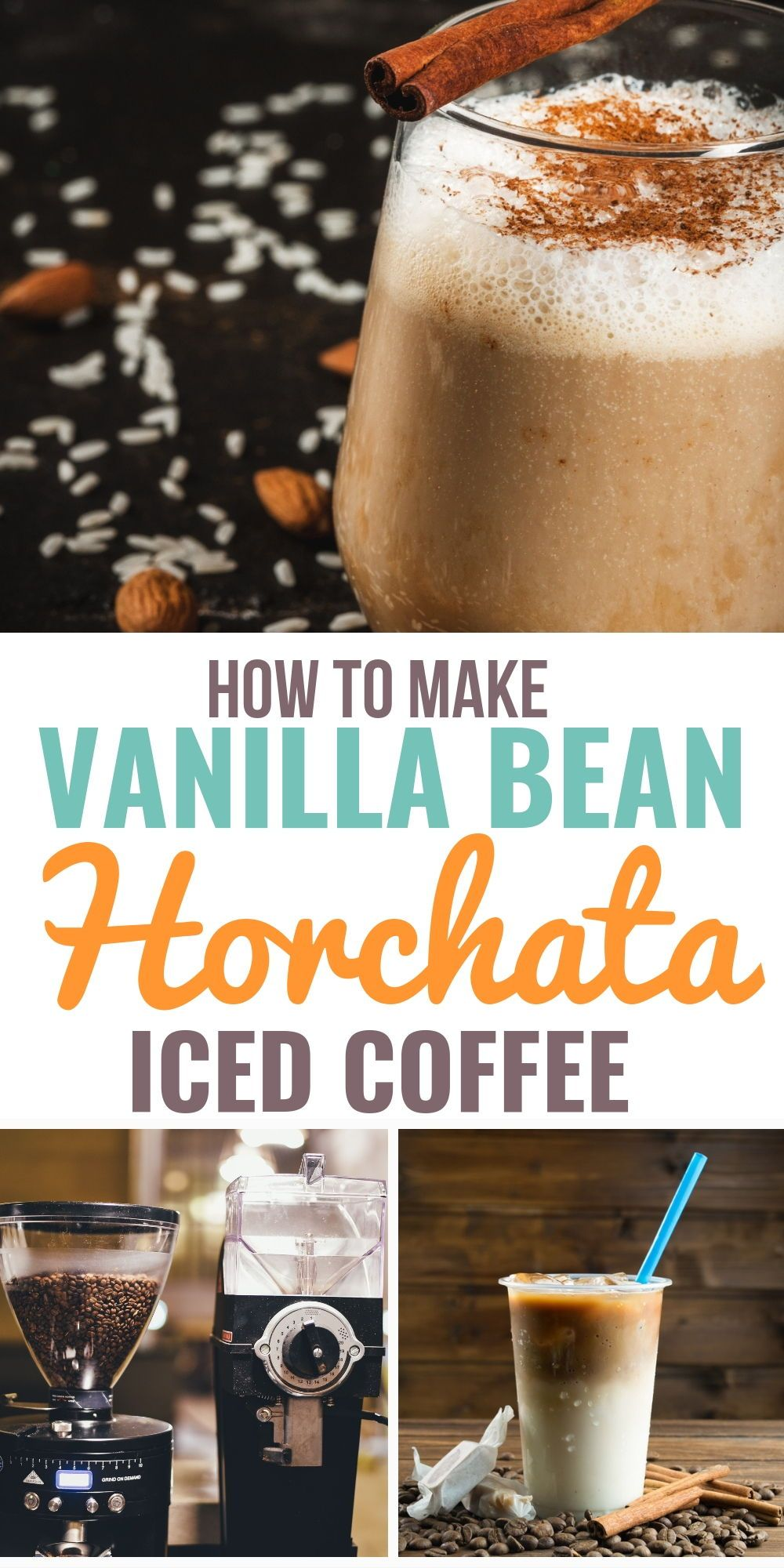 How to make vanilla bean horchata iced coffee horchata