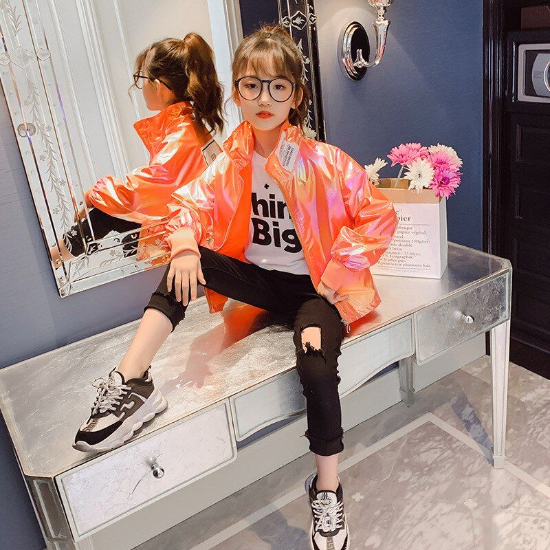 Tops for Girls 10 Years Spring Autumn Coat Fashio