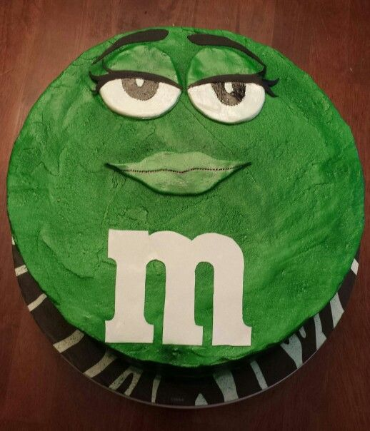 Green MM birthday cake My Cakes Pinterest Birthday cakes
