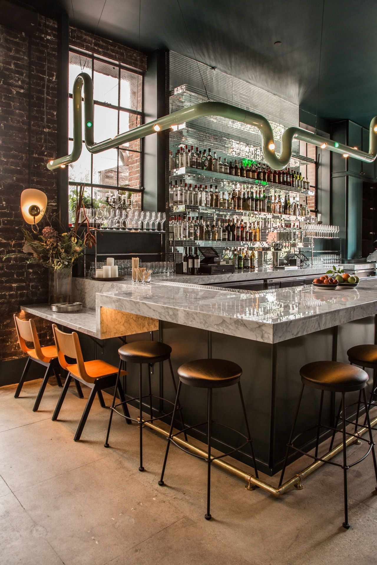 The New Firehouse Hotel In L A Proves Design Risks Can Pay Off Big Time Bar Design Restaurant Bar Interior Design Restaurant Interior Design