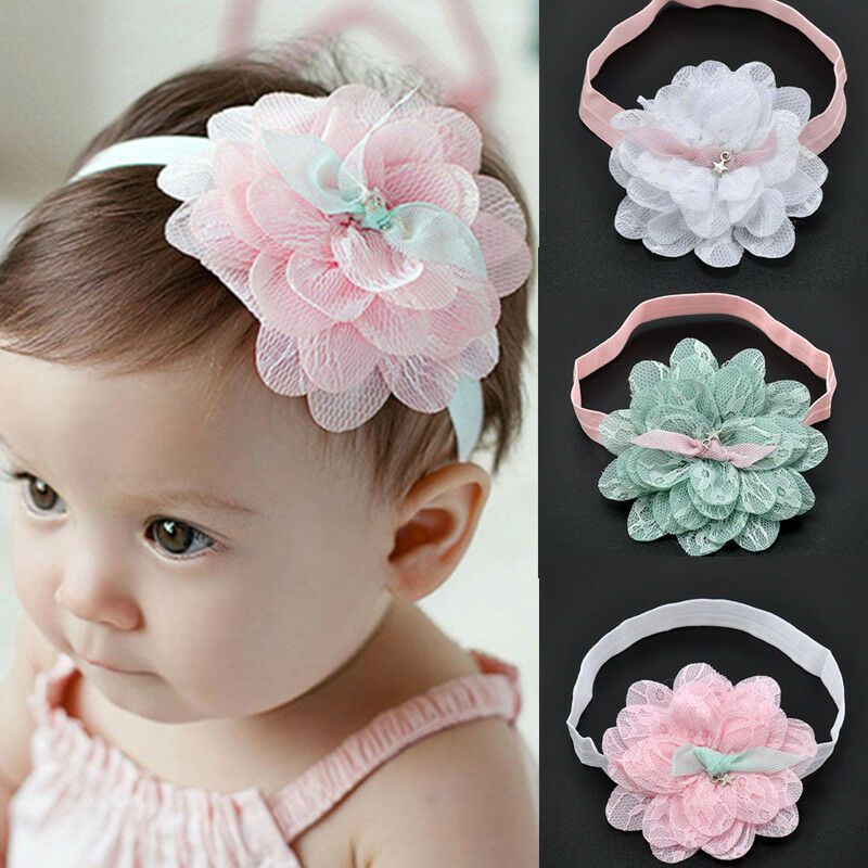 Baby Kids Girls Lace Flower Hairband Headband Dress Up Head Band Baby Headwear for Kids