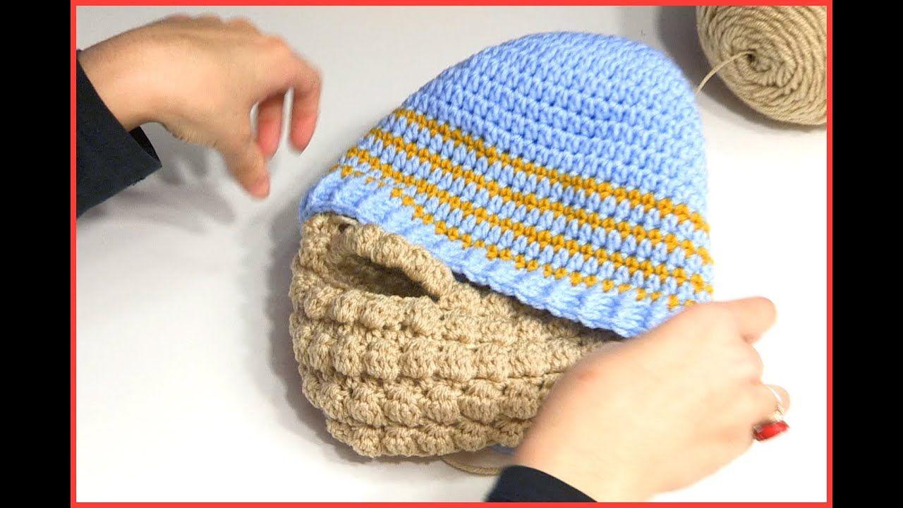 HOW TO CROCHET A BEARD USING PUFF BOBBLE STITCH | Crochet ...
