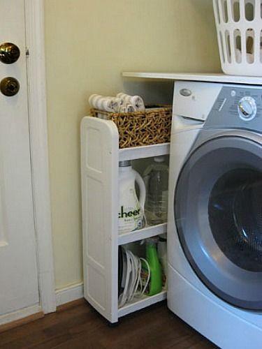 11 sneaky storage spots you 39 ve probably overlooked organizing pinterest lavander a - Armario para lavadora ...