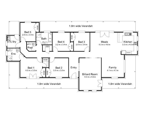 The Phillip « Australian House Plans. Love the kitchen layout with 3 ...
