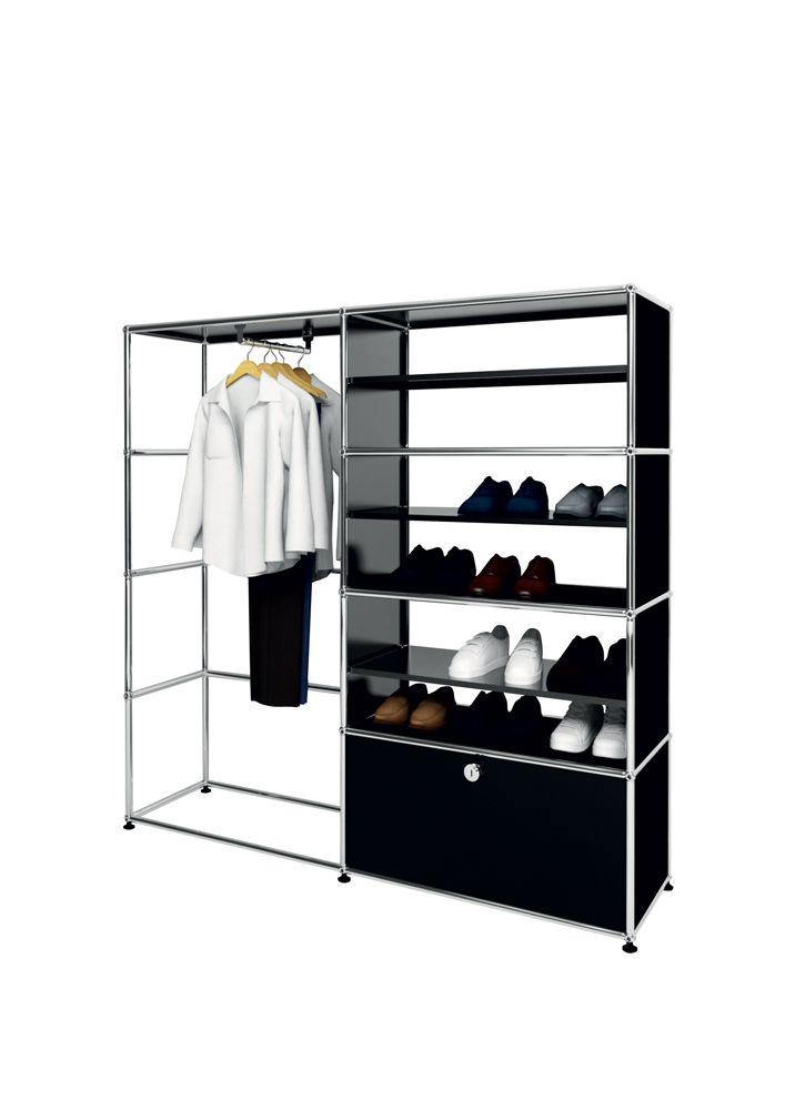 usm modular furniture wardrobe black meuble usm haller dressing noir usm wardrobe pinterest. Black Bedroom Furniture Sets. Home Design Ideas
