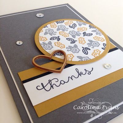 Carolina Evans - Stampin' Up! Demonstrator, Melbourne Australia: Cottage Greetings for #GDP002 #stampinup