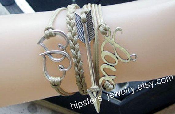 Stylish simplicity personality bracelet LOVE by Hipstersjewelry, $7.99