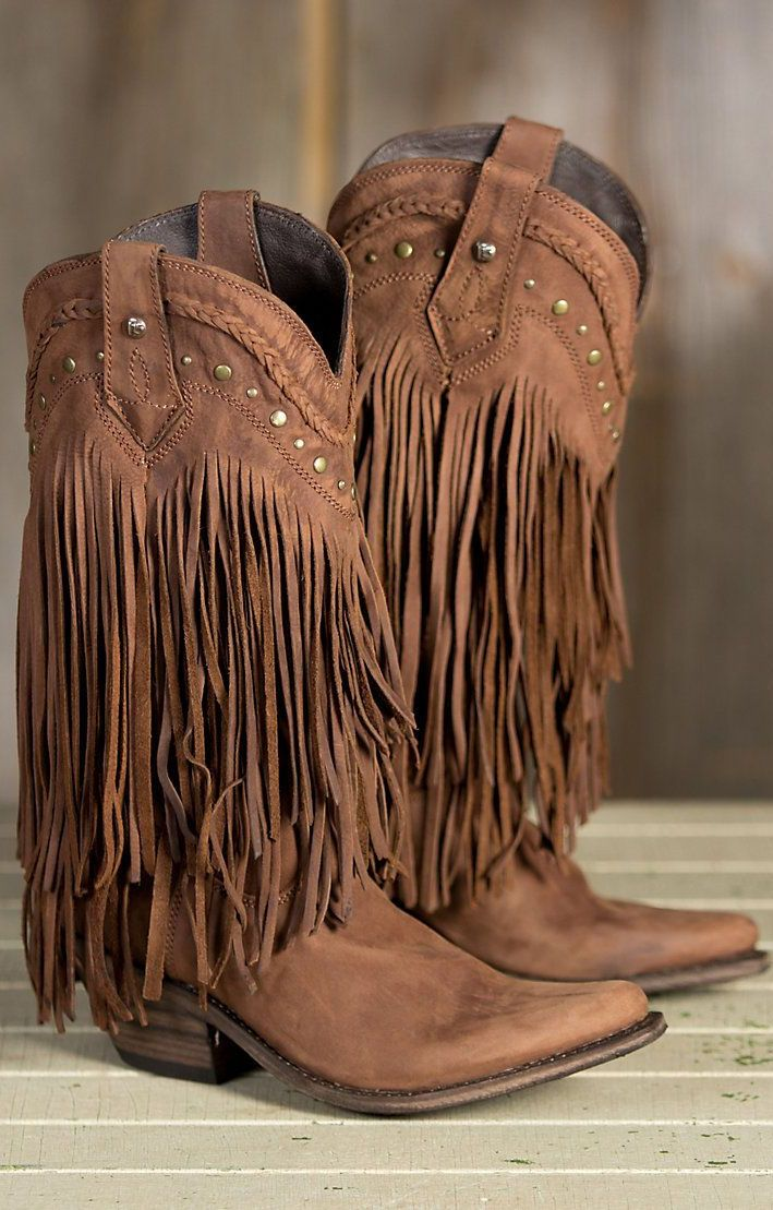 1425b138d8367 Fringe Cowboy Boots ❤ | Fashion | Fringe cowboy boots, Boots ...