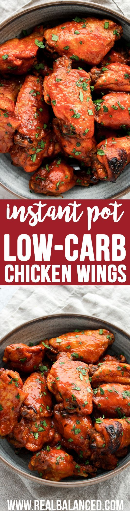 Instant Pot Low-Carb Sweet & Spicy Barbecue Chicken Wings: Low-carb, keto, paleo, dairy-free, gluten-free, grain-free, and refined-sugar-free; only 1.6g net carbs per serving!