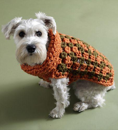 Crochet Urban Granny Dog Sweater pattern by Lion Brand Yarn on ...