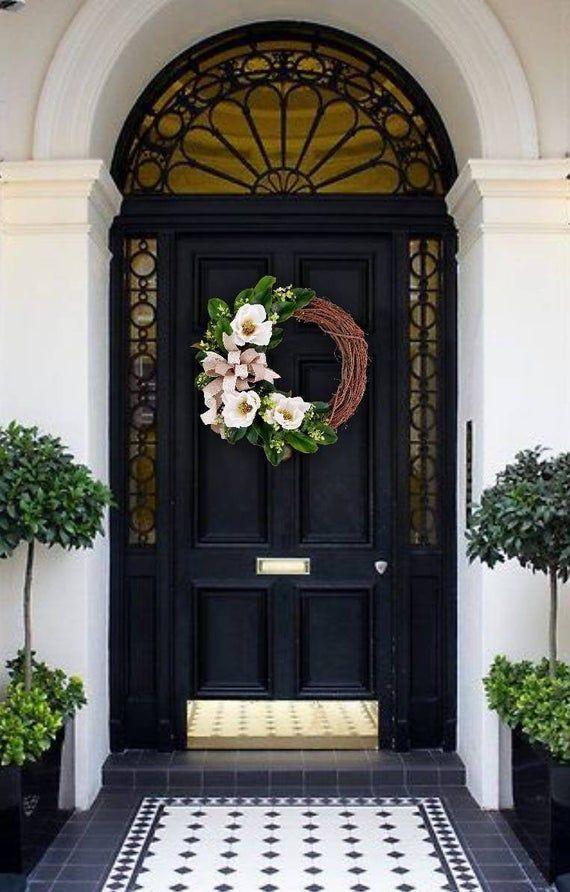 Photo of MAGNOLIA GRAPEVINE WREATH – Magnolia wreath – Peasant wreath – Magnolia decor – Southern wreath – Wine wreath – Autumn wreath – A wonderful home