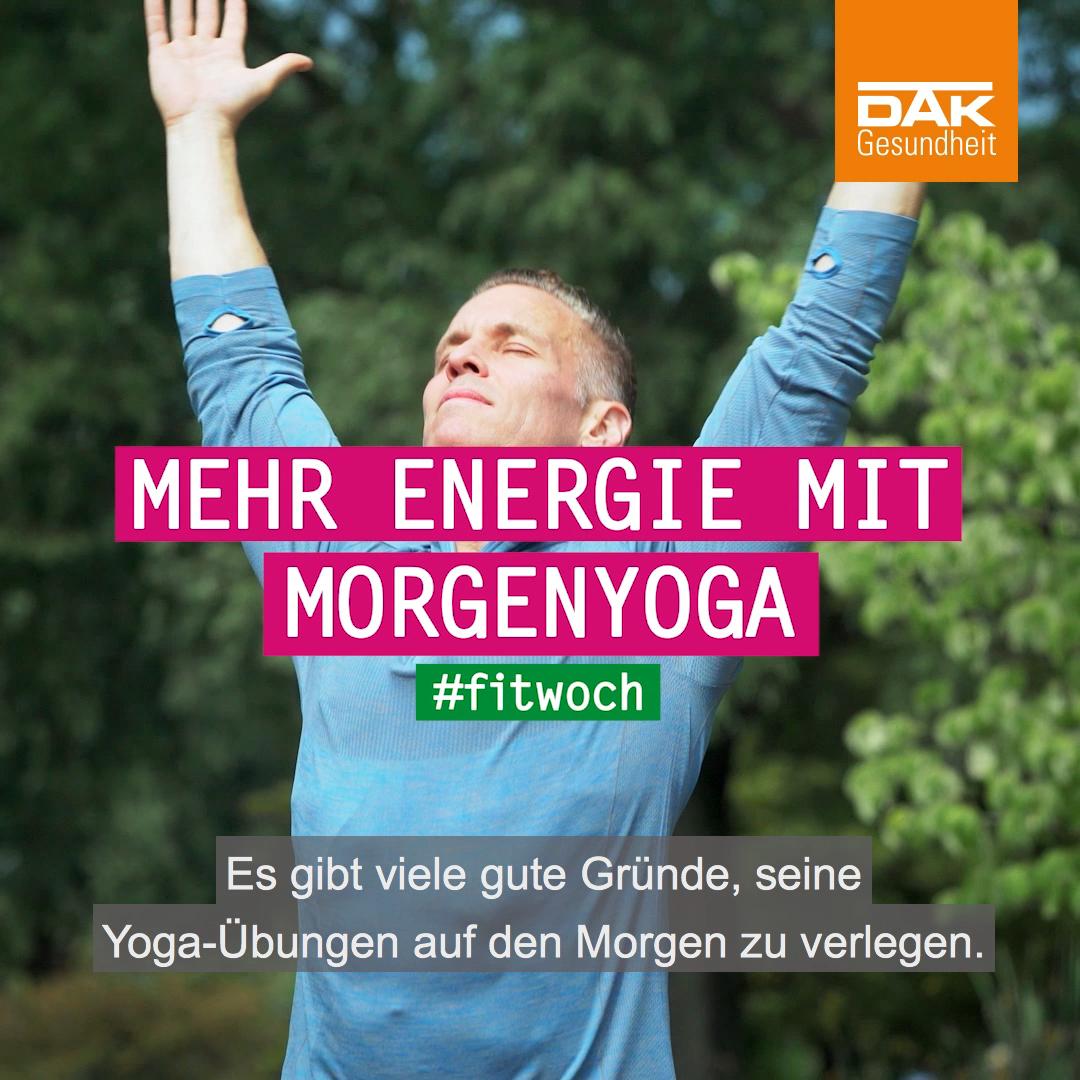 Mehr Energie Mit Morgenyoga Video Dak Gesundheit Yoga Yogalehrer