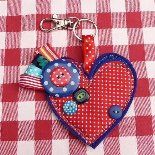 Heart Bag Charm / Key Ring
