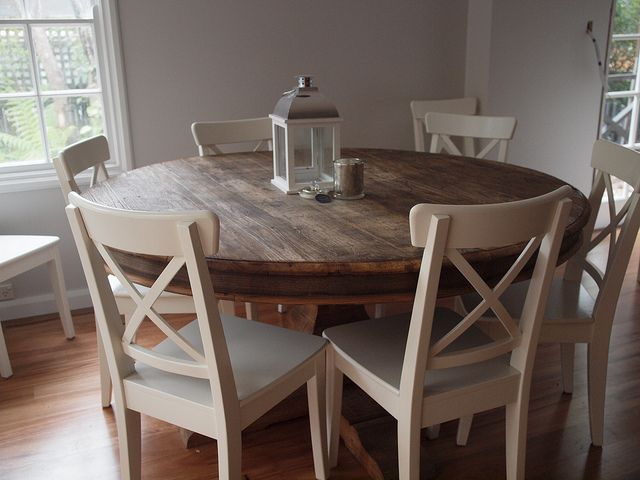 Large Round Wood Kitchen Tables Wooden Dining Table Oak ...