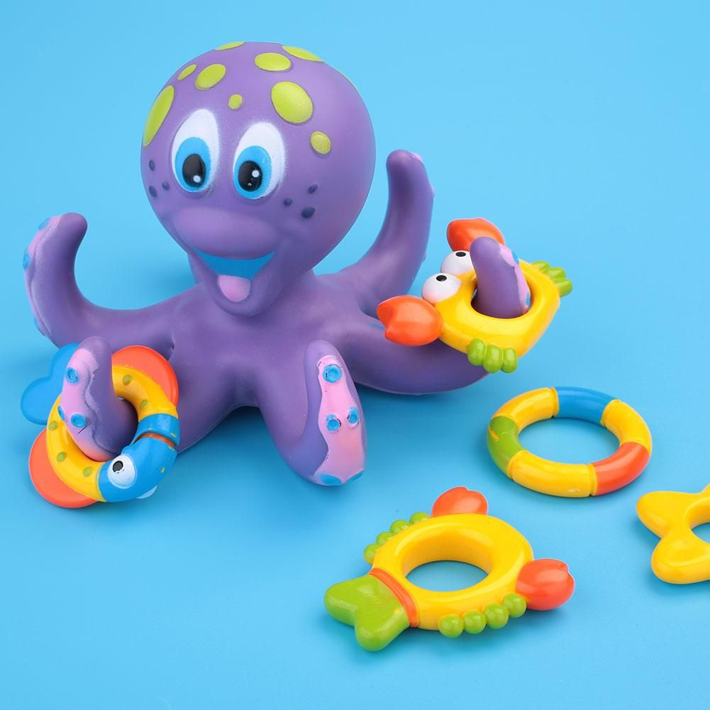 Plastic Cartoon Octopus Hoopla Bathtime Fun Water Play Bath Toys For ...