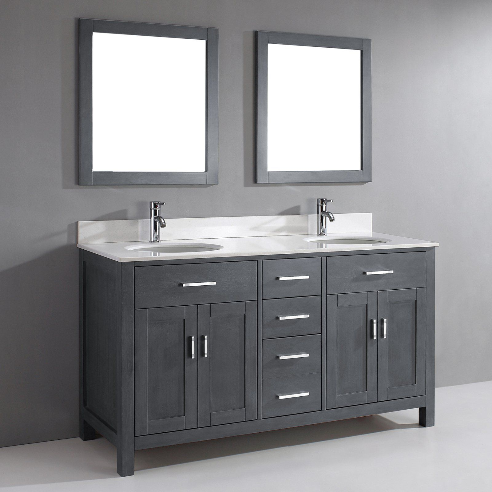 Bauhaus Bath Celize 63 In Double Bathroom Vanity Set With Mirrors