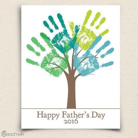 Fathers Day Last Minute Printable Gift - DIY Child's Handprint Tree - Editable Printable pdf - Kid's craft project - Tree Art Project#art #childs #craft #day #diy #editable #fathers #gift #handprint #kids #minute #pdf #printable #project #tree