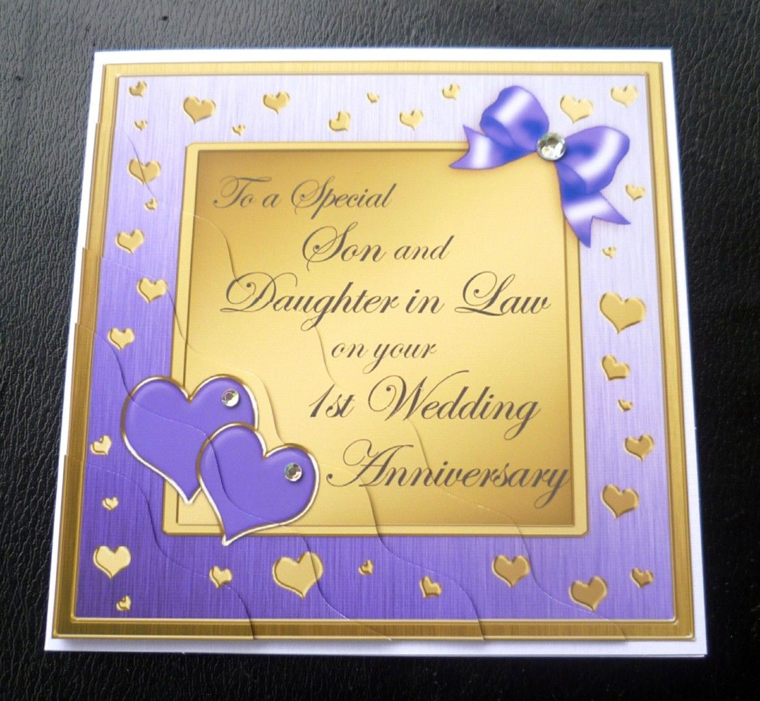 Invitation Cards Ruby Wedding Anniversary 1st Wedding Anniversary For Son And Daughter In Law - Bing