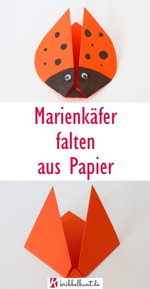 Marienkäfer basteln / Marienkäfer falten