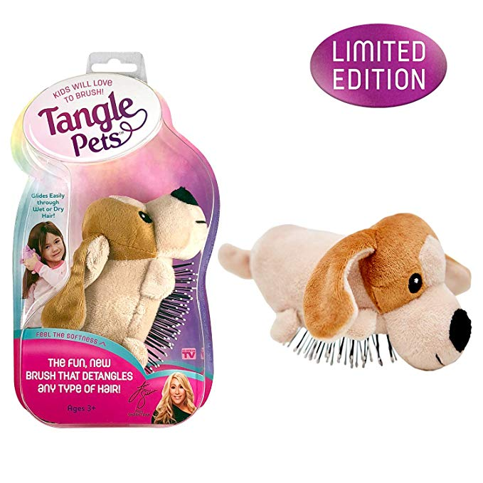Amazon Com Tangle Pets Pepper The Puppy The Detangling Brush In A Plush Great For Any Hair Type Removable Plush As S Pet Brush Detangling Brush Detangler