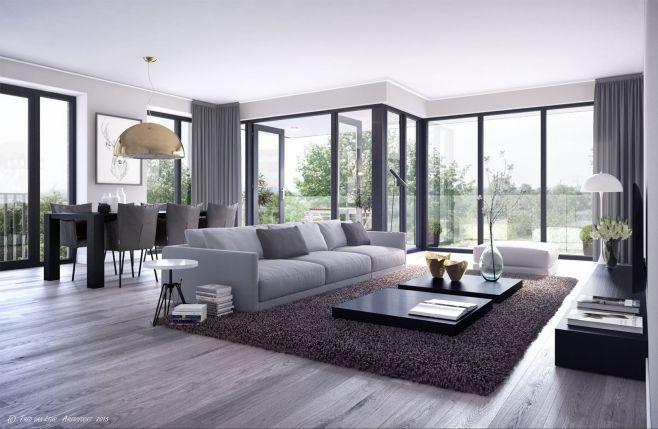 We love the light through this floor-to-ceiling windows! - by Mulderblauw