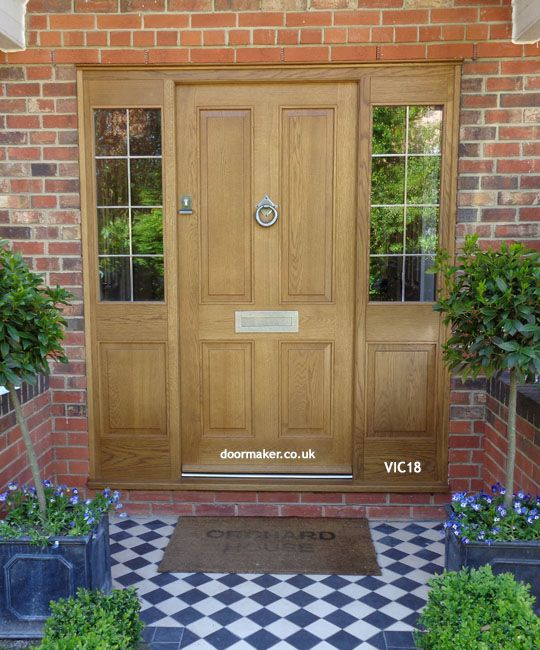 Victorian front doors Georgian Regency Edwardian Doors London Doors made from Oak and other woods painted or stained & victorian oak front door with sidelights | Doors | Pinterest | Front ...