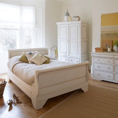 Classic White Bedroom Furniture To Claudette White Wooden Bed Frame From Barker u0026 Stonehouse Classic White Painted Sleigh Bed Perfect For Period Property Of The Best Wooden Bed Frames Best
