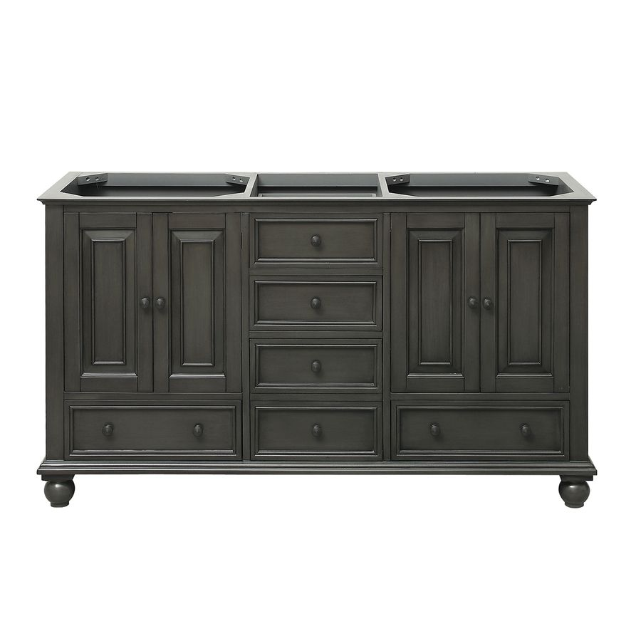 Traditional Bathroom Vanities And Cabinets avanity thompson charcoal glaze traditional bathroom vanity