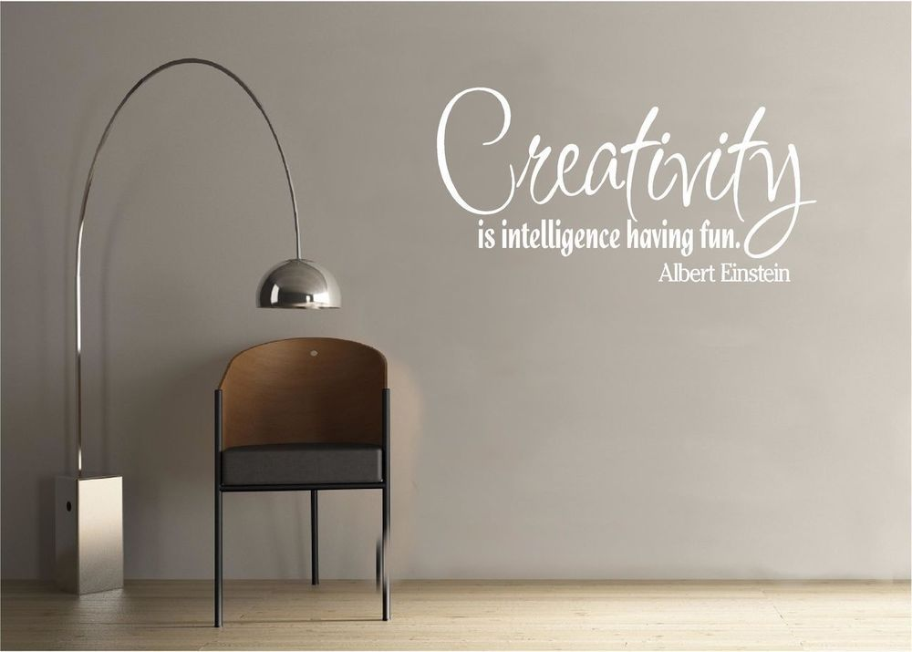 Details About Vinyl Wall Decal Art Quote Saying Decor Creativity - Custom vinyl wall decals quotes how to remove