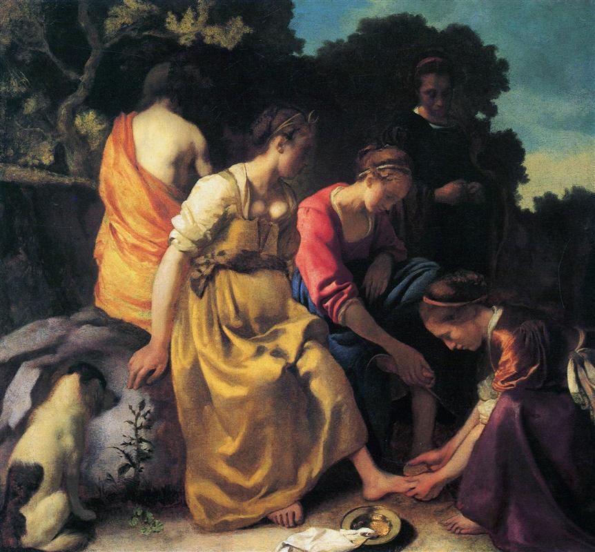 Diana and her companions-1653-54-Johannes Vermeer
